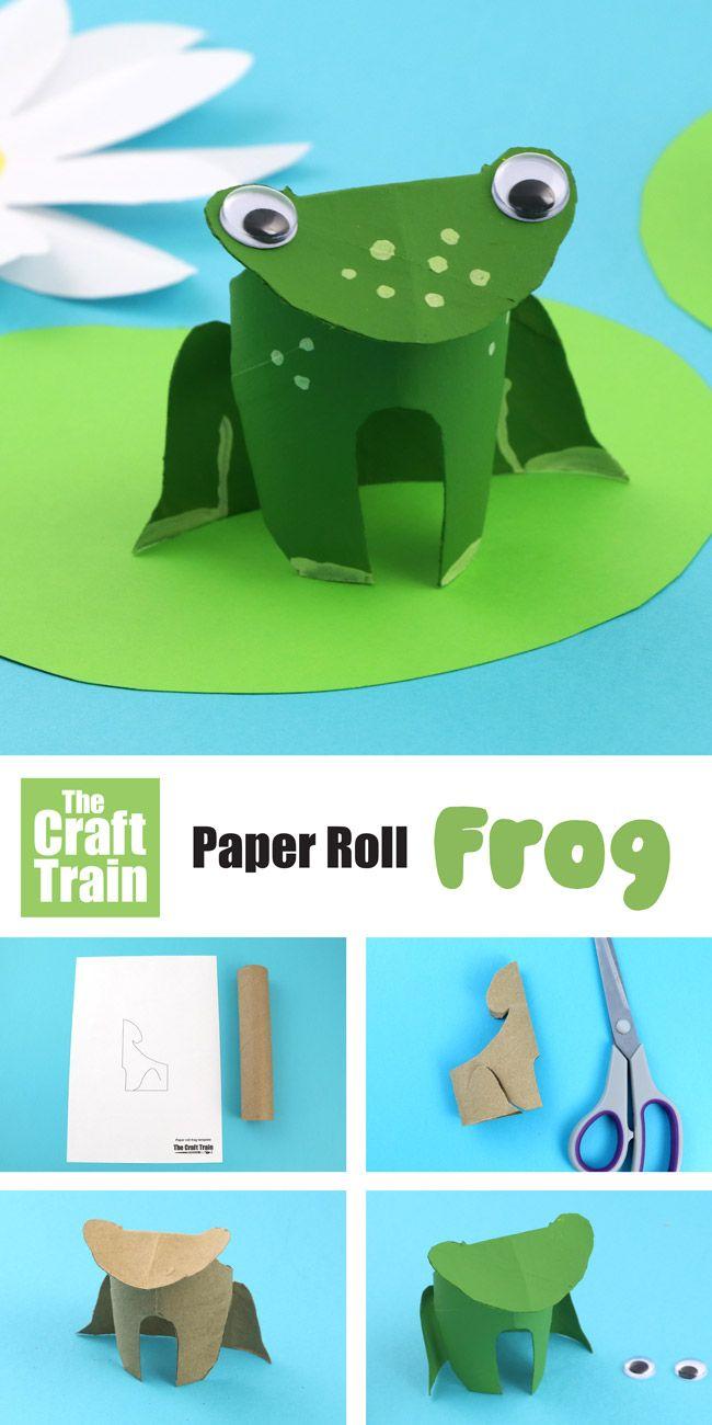 Paper roll frogs spring crafts kids pinterest crafts crafts