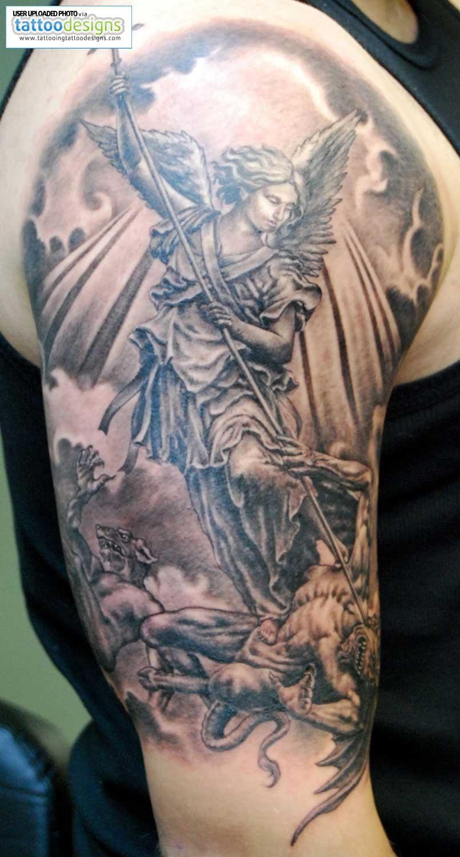 De Max Tatto Tatuaje Angel Tatuaje De San Miguel Tatuaje Gris