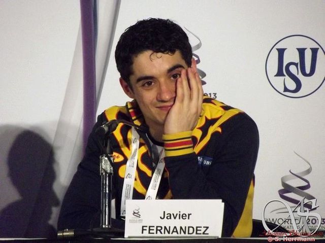 Javier Fernanndez(Spain) press Conference : World Figure Skating Championships 2013 in London(CANADA)