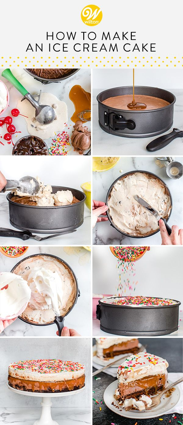 Easy Homemade Ice Cream Cake - Picture Instructions | Wilton