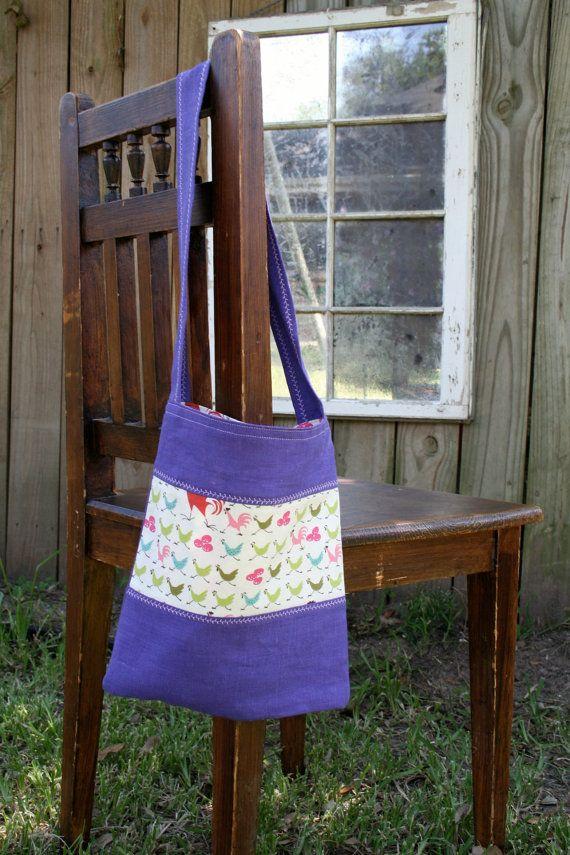 tenderfoot  kid sized reversible linen tote bag  by GypsyForest, $24.50
