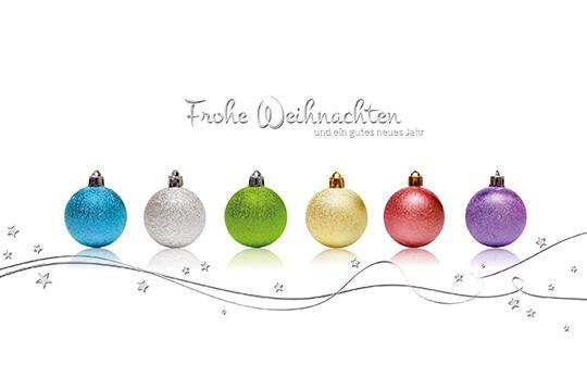 Weihnachtskarten Spende.Weihnachtskarte Bunte Kugeln Mit Spende Deutsche Kinderkrebsstiftung