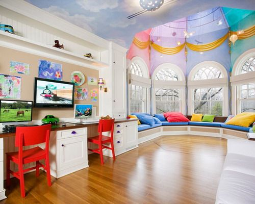 Kids Bedroom Library home library design for kids | 12 false ceiling designs for kids