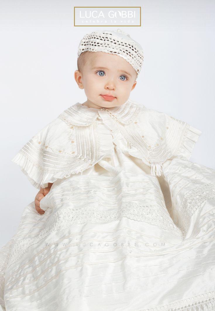 Elegante ropón de bautizo para niño, desmontable, confeccionado en ...