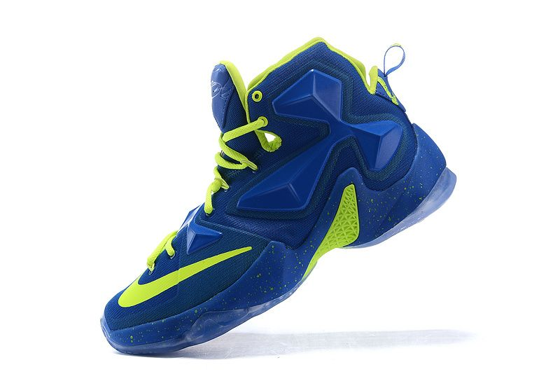 new product d74b1 92d4a 2016-2017 Sale Nike LeBron 13 XIII Game Royal Lime Green Volt New Arrival  2016