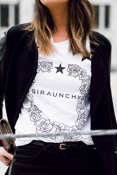 BUY HERE: http://www.glamzelle.com/products/giraunchy-black-t-shirt