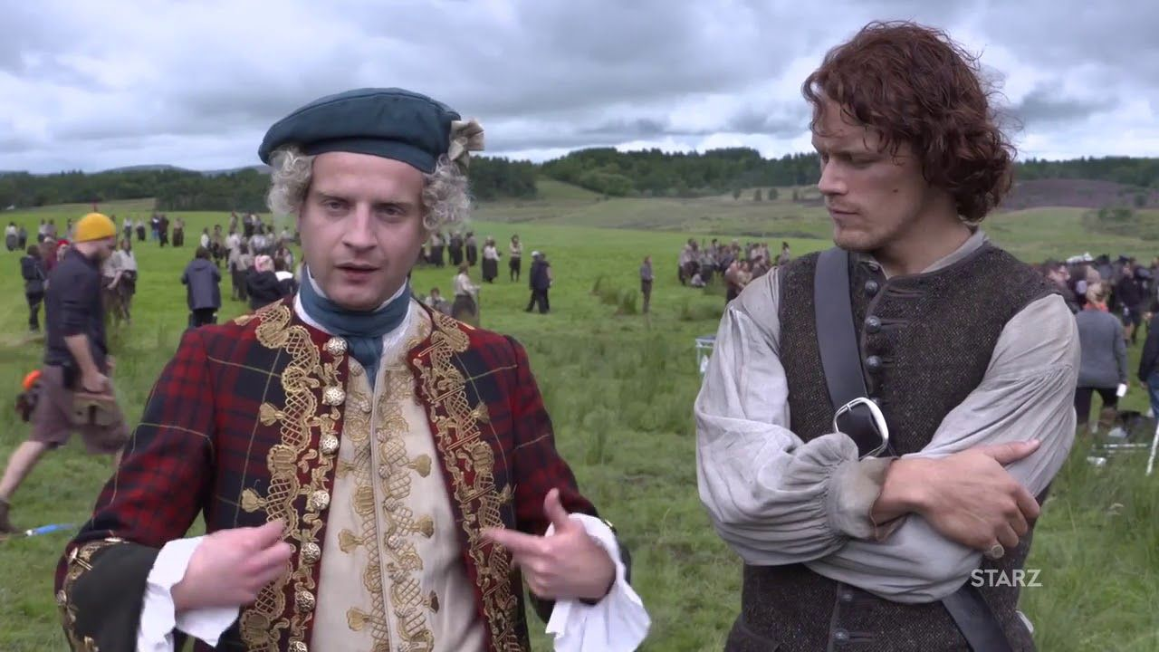 Sam Heughan and Andrew Gower hilariously talk Bonnie