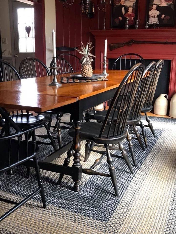36 lovely farmhouse black table and chair design ideas for