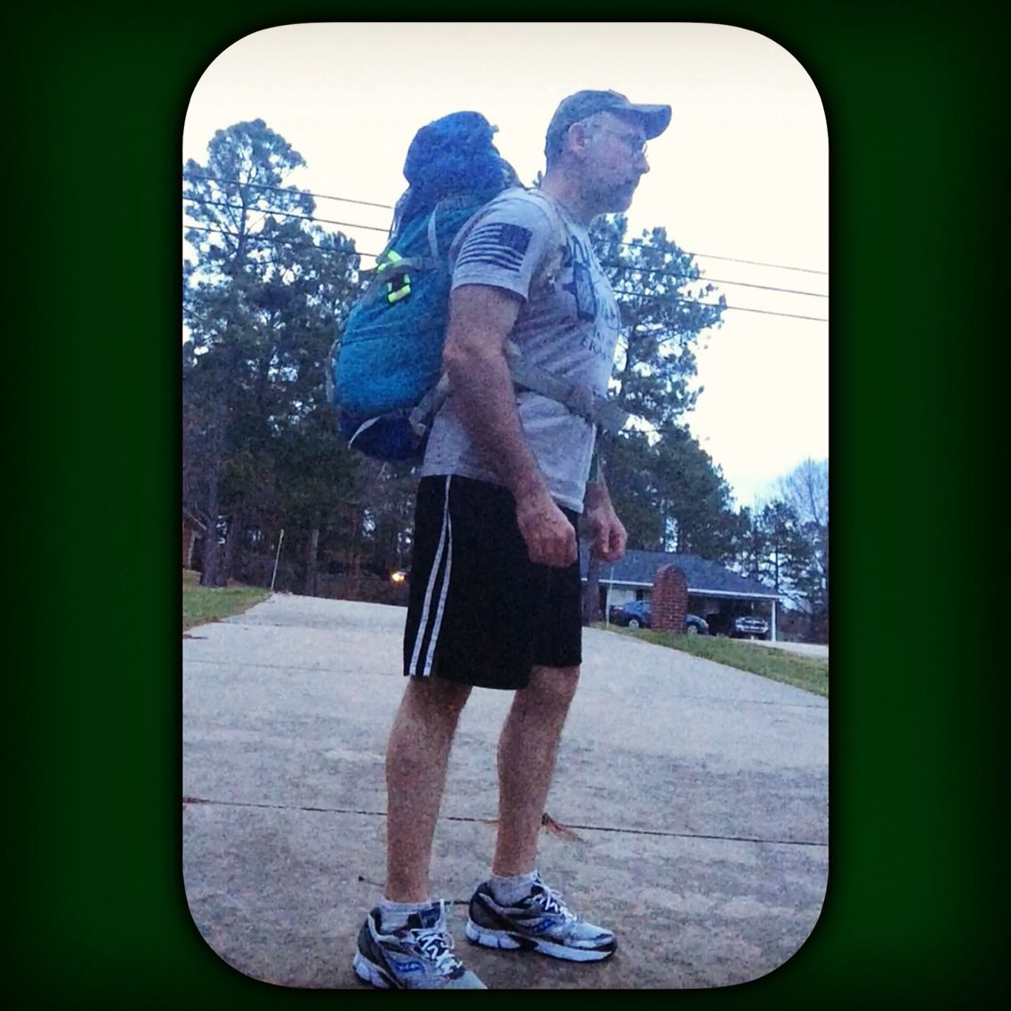 """Another little walkabout for the """"All Roads Lead to Rome"""" Virtual 27.3 mile challenge.  So far I've done 7.3 miles and have 20 to go.   I forgot how tough ruck marching is, not only physically, but mentally as well.  I've only been doing this challenge for a couple of days and my legs are screaming sore.   It's good stuff. These challenges help me push myself.   #ruckmarch #rucksack #hiking #walking #fit #exercise #workout #fitness #health #weightloss #dempseysresolutionfitness"""