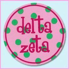 Round Bumper Sticker #DeltaZeta