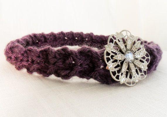 Hand Knit Flapper Style Hippie Headband by WanderlustKnit | Knits ...