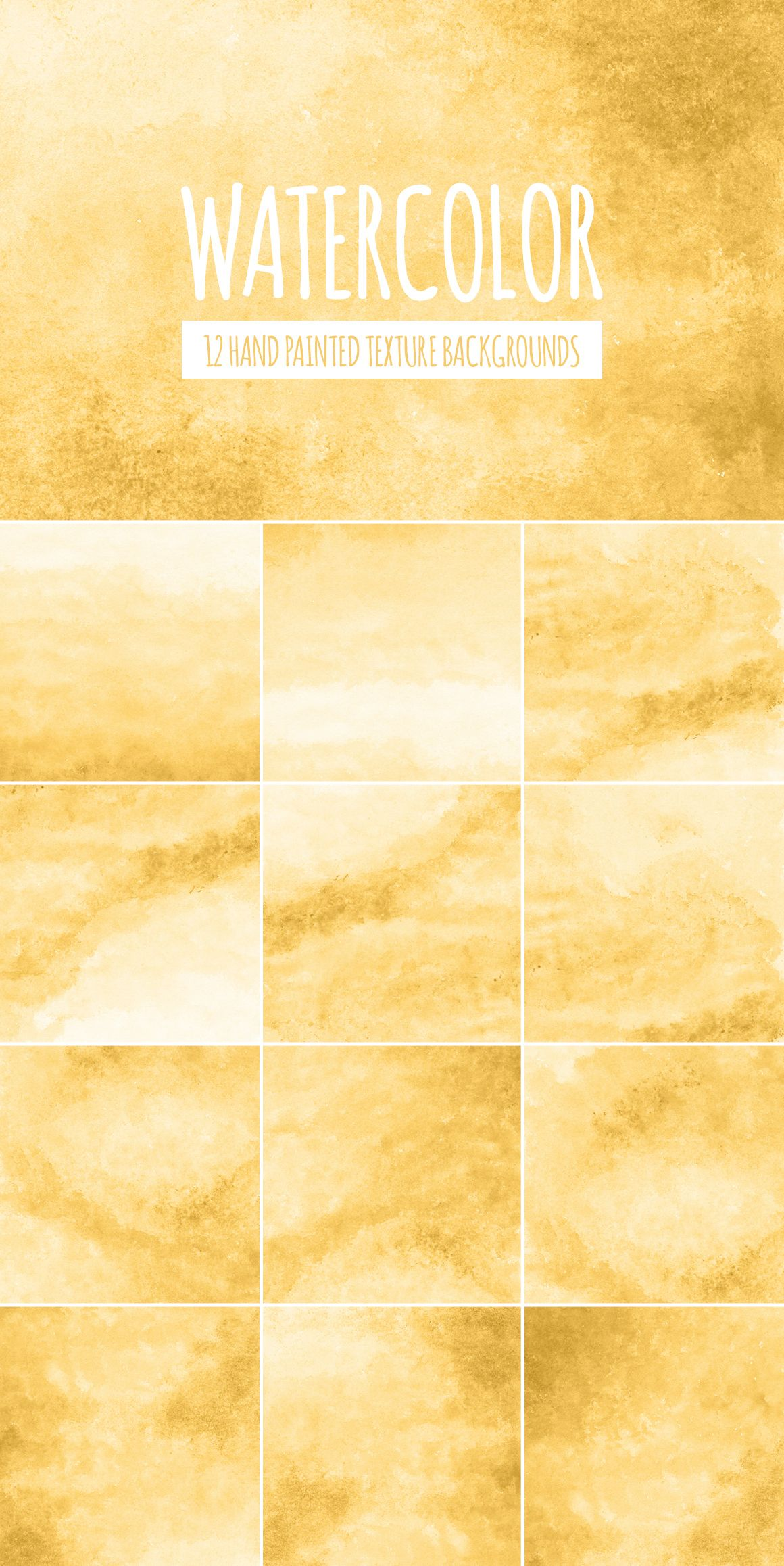 yellow gold watercolor texture digital paper hand painted
