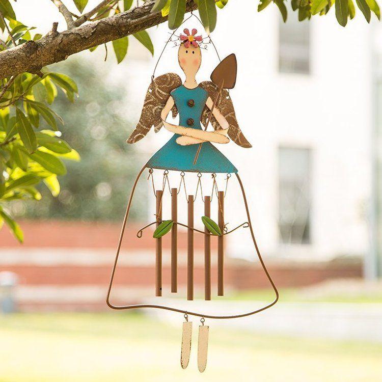 Garden Chime Angel Decor Fairy Windchime Flower Bells Outdoor Yard Lawn Patio
