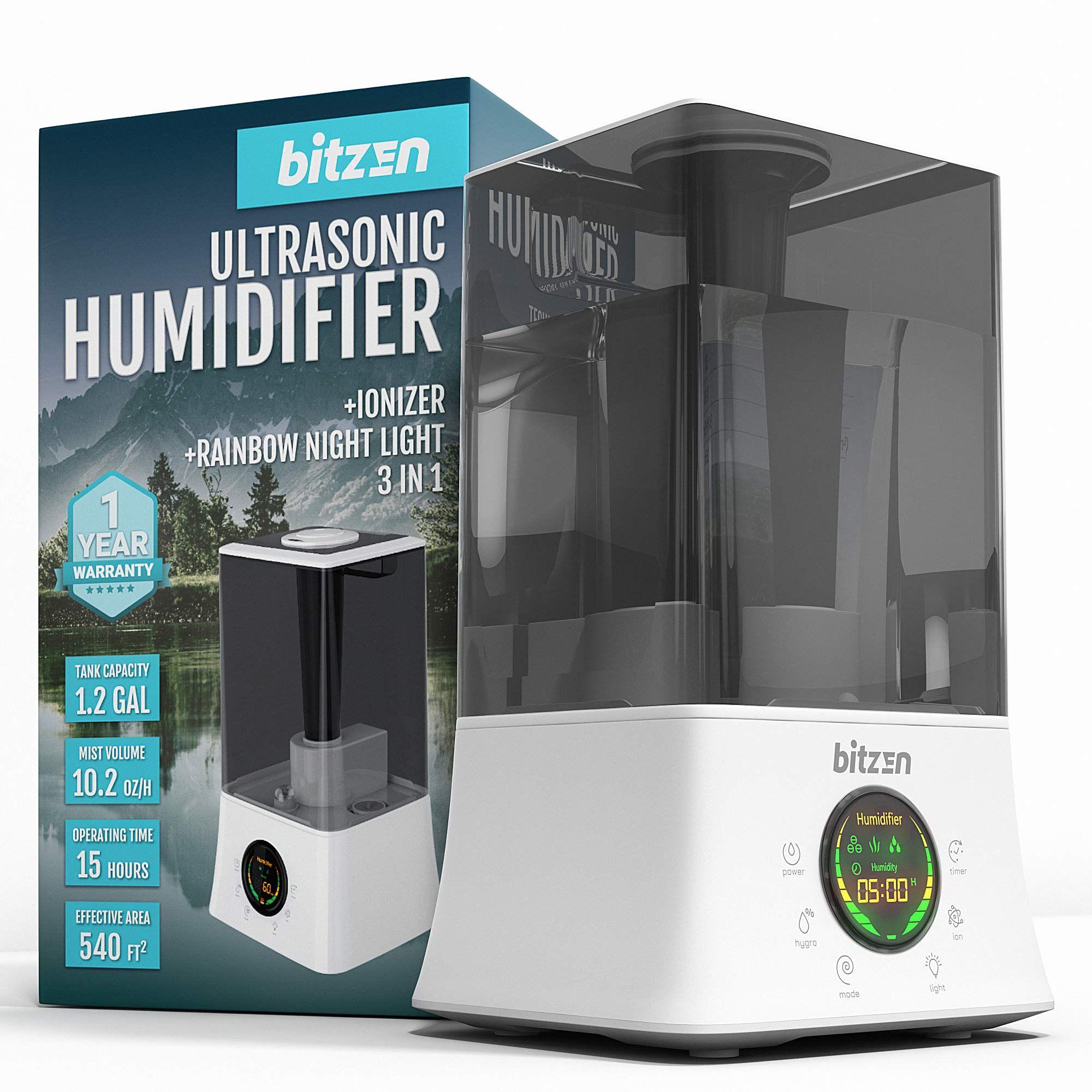 BITZEN Cool Mist Humidifier – Essential Oils Diffuser â