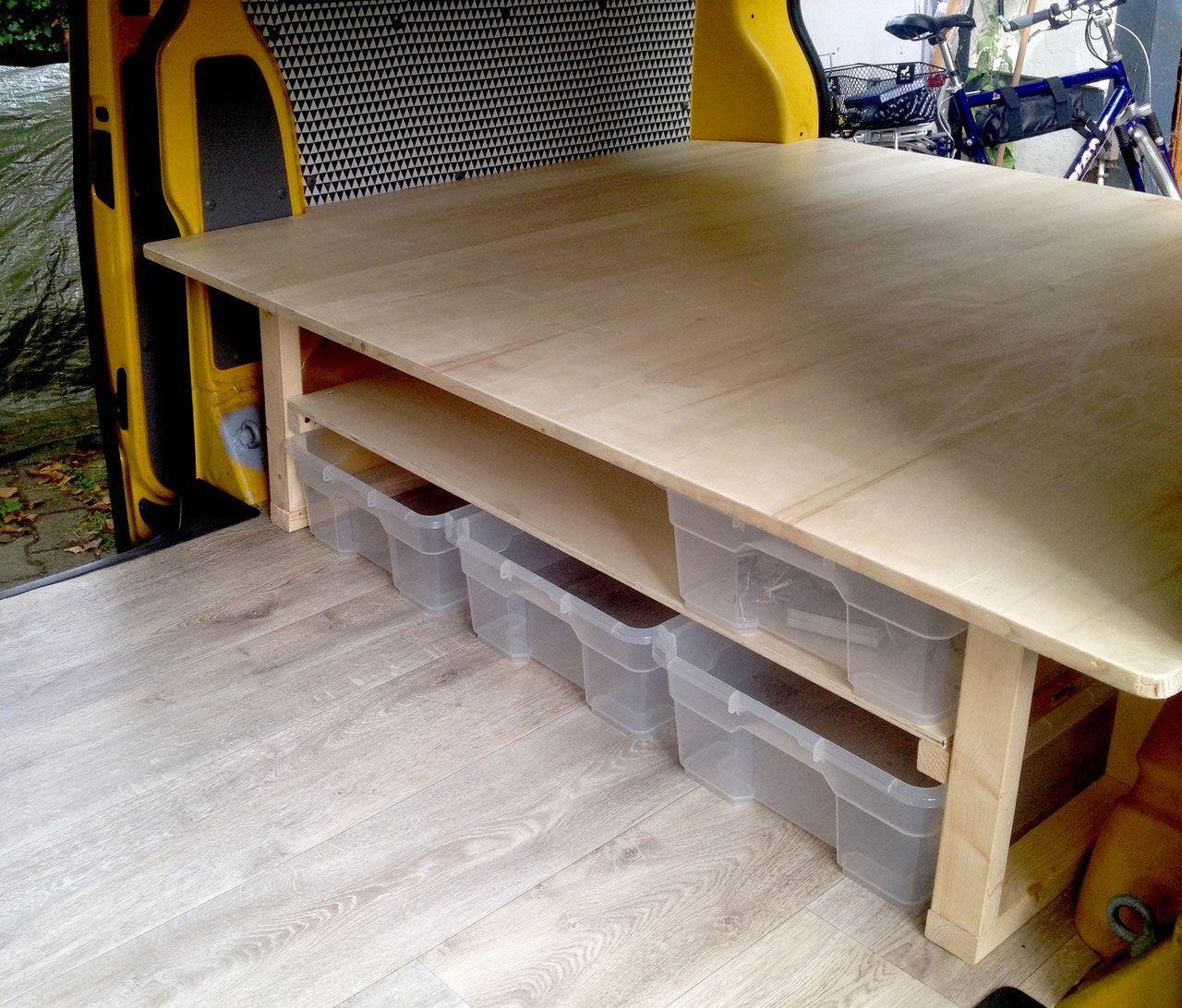 T5 Ausbau Bett von Lybstes.de Camper furniture, Camper