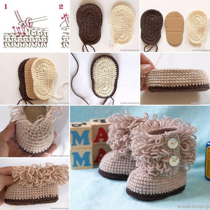 booties | baby | Pinterest | Ganchillo crochet, Bebe y Esquemas