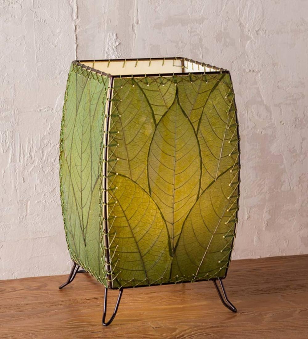 Outdoor Indoor Leaf Cube Lamp Green Vivaterra In 2020 Cube Lamps Lamp Indoor Lamp