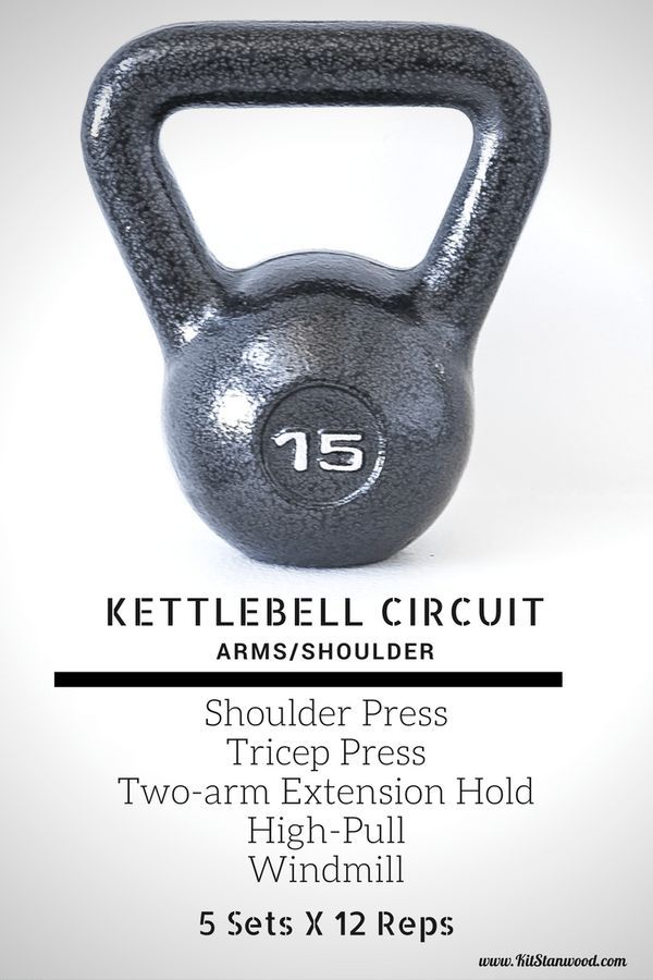BUILD ARM AND SHOULDER MUSCLES WITH THIS KETTLEBELL WORKOUT CIRCUIT