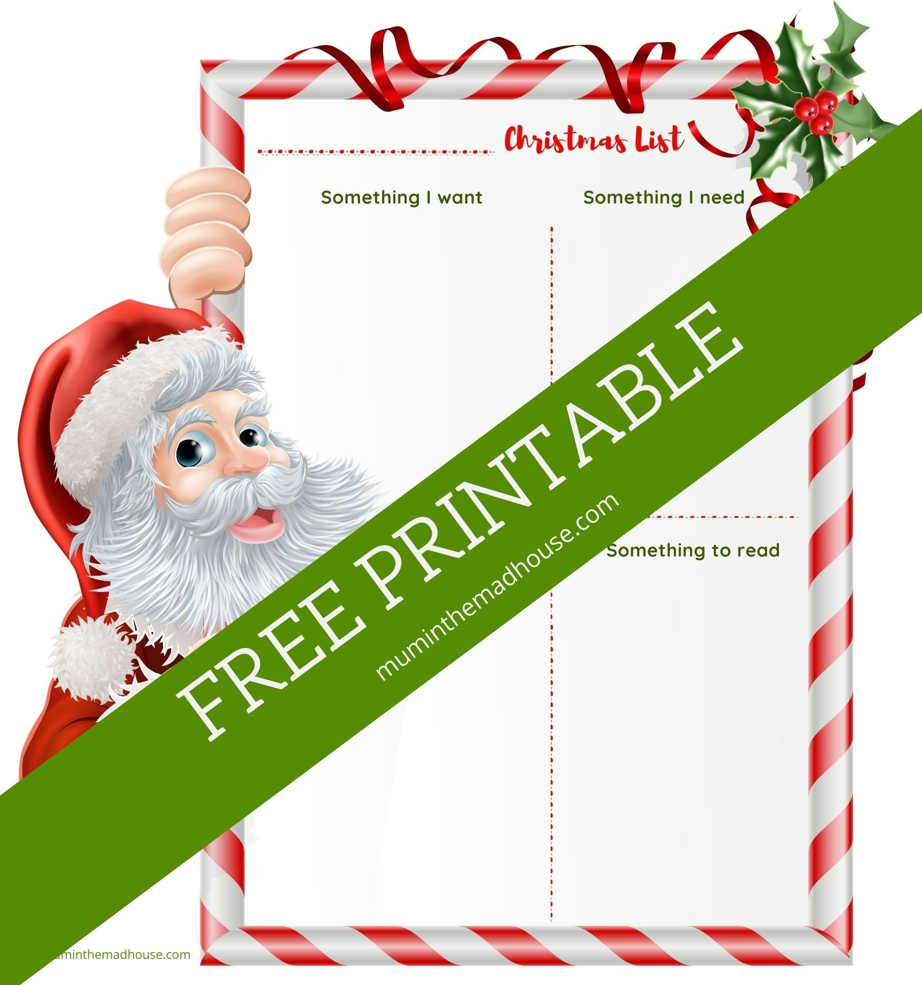 Free Printable Christmas Wish List In 2020 Free Christmas Printables Christmas Printables Christmas Wishlist
