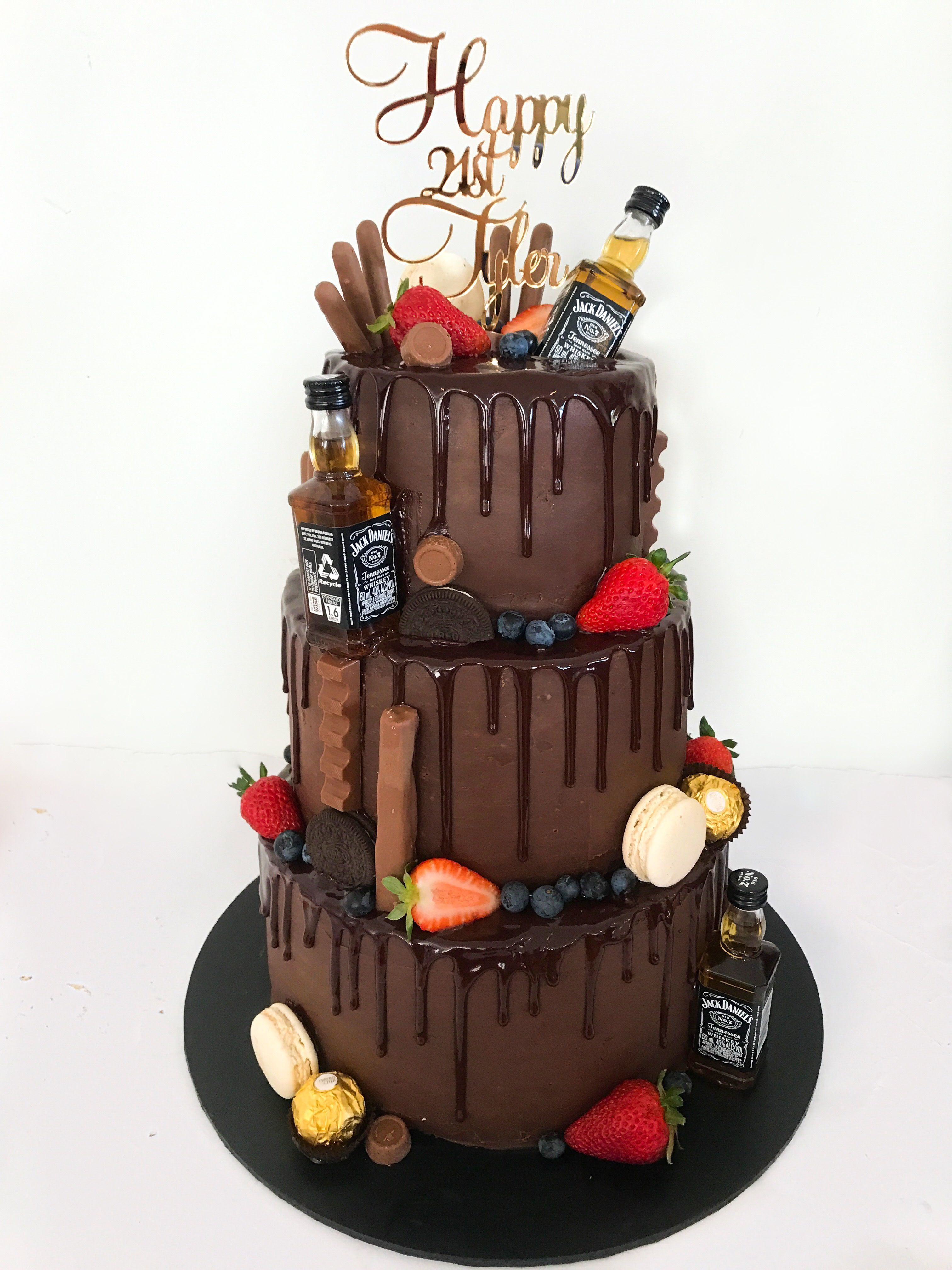 Awe Inspiring Chocolate Drip Cake For Men 21St Birthday With Images 21St Funny Birthday Cards Online Alyptdamsfinfo