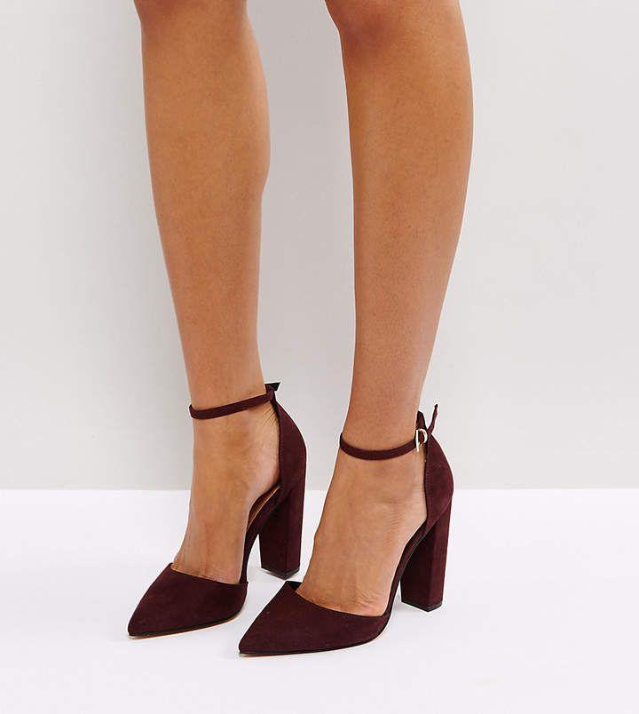 f669736524e Asos chaussures à bouts pointus et talons hauts  bordeaux