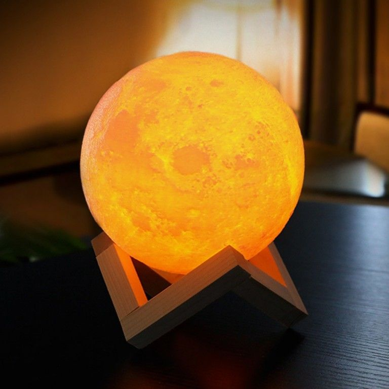Moon Lamp Led Bedroom Lamp Touch Switch 3d Print Home Decoration Moon Light Lamp Night Lamps 3d Night Light