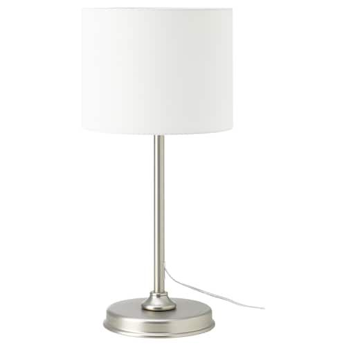 Ikea Ingared Beige Table Lamp With Led Bulb Table Lamp White Table Lamp Bulb