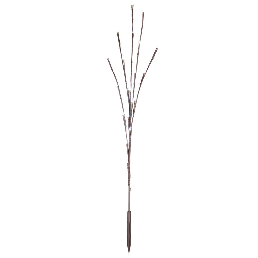 Vickerman 60 Cool White Wide Angle LED Twig Light Set on Brown Wire