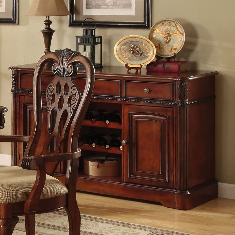 Georgetown English Style Cherry Finish Buffet Server Cabinet