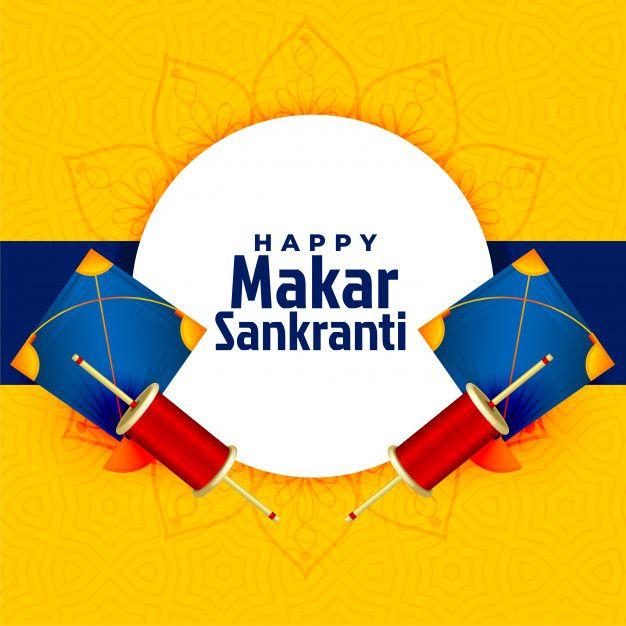 Download Happy Makar Sankranti Festival Card With Kite