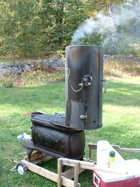 Full Size Woodstove Mod D Into A Smoker The Bbq