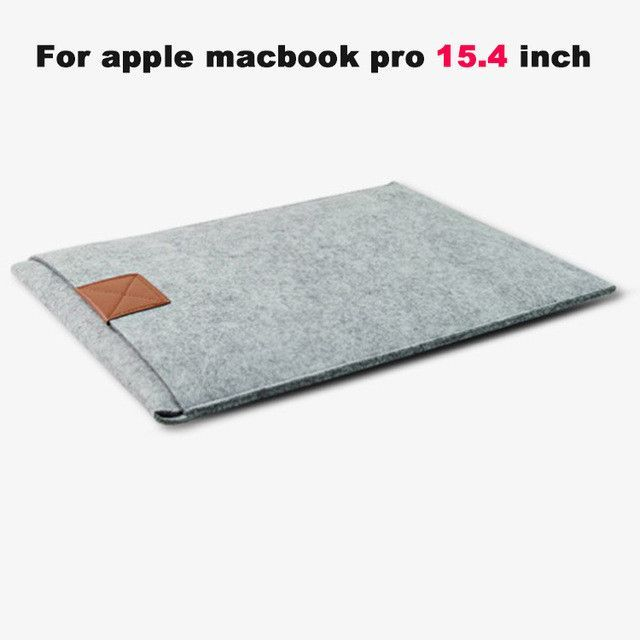 """Newest ! Fashion Laptop Cover Case For Macbook Pro/Air/Retina Notebook Sleeve bag 11""""13""""15"""" Wool Felt Ultrabook Sleeve Pouch Bag"""