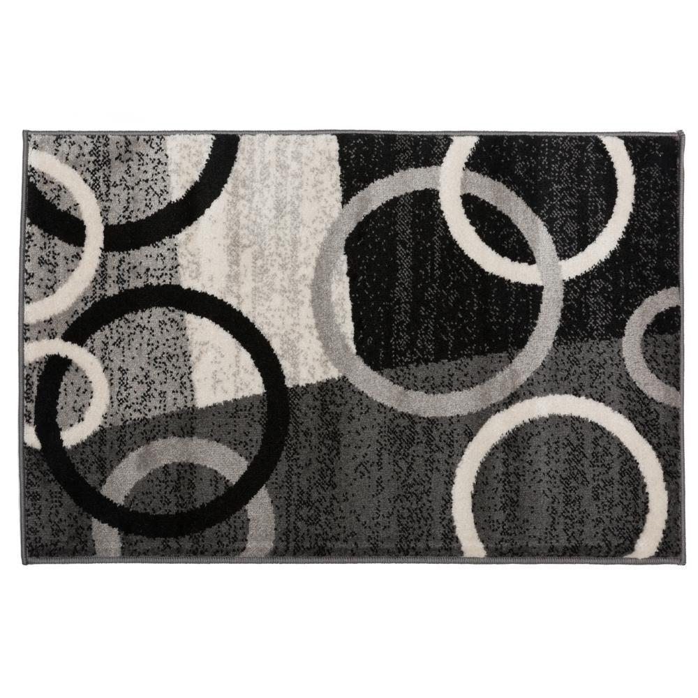 Ikbal Modern Circles Shapes Area Rug Rug Gallery Grey Area Rug Area Rugs