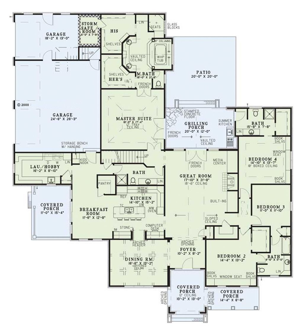 4 master bedroom house plans  European Style House Plan   Beds  Baths  SqFt Plan