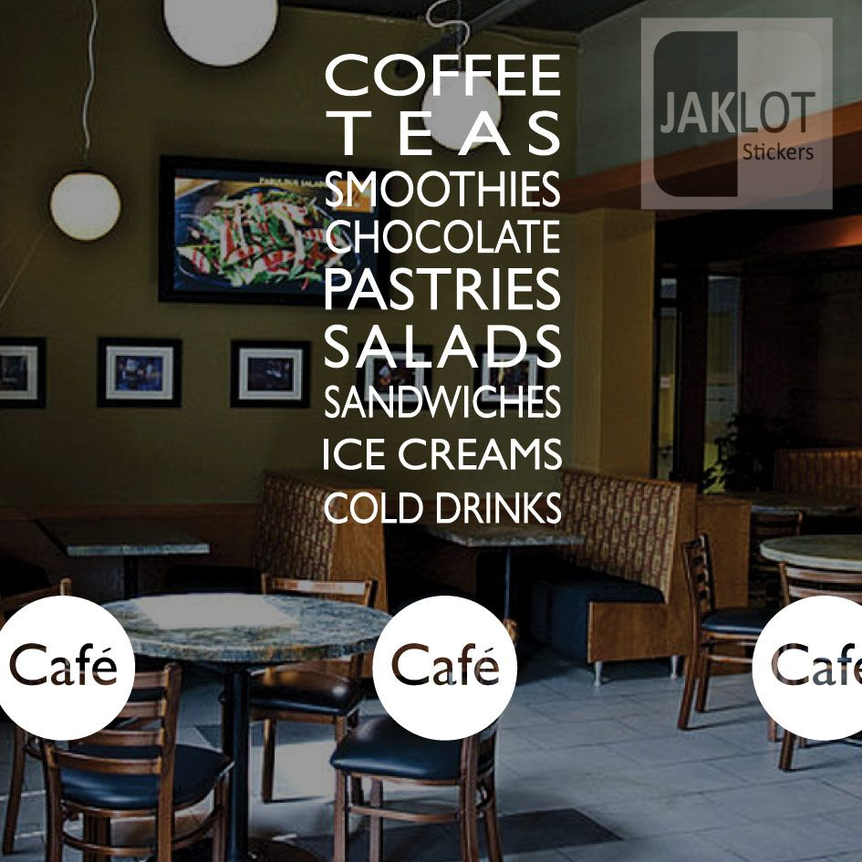 COFFEE TEA SANDWICHES CAFE - Vinyl Window / Wall Sticker ...