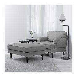 Ikea Stocksund Sessel Ljungen Grau Schwarz Besonders Breiter