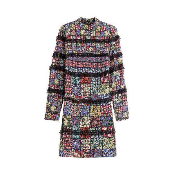 Valentino Damen Seidenkleid im Patchwork-Stil mit Blüten und... ($2,645) ❤ liked on Polyvore featuring home and kitchen & dining