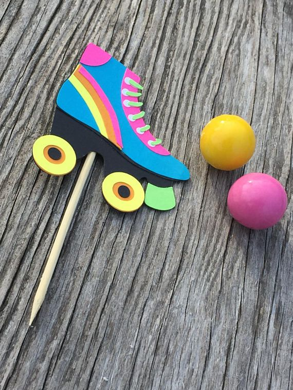 Roller Skate Cupcake Toppers Roller Skating Party Skate Etsy Roller Skating Party Skate Party Skate Birthday Party