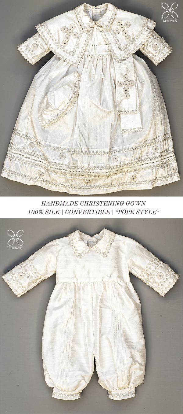 407d2839c Burbvus pope style christening gown, handmade, 100% silk, find out more on  burbvus.etsy.com #christeninggown