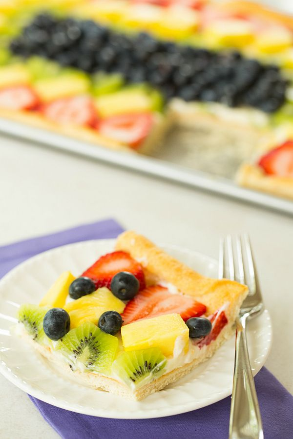 Fruit Pizza   browneyedbaker.com #recipe #summer