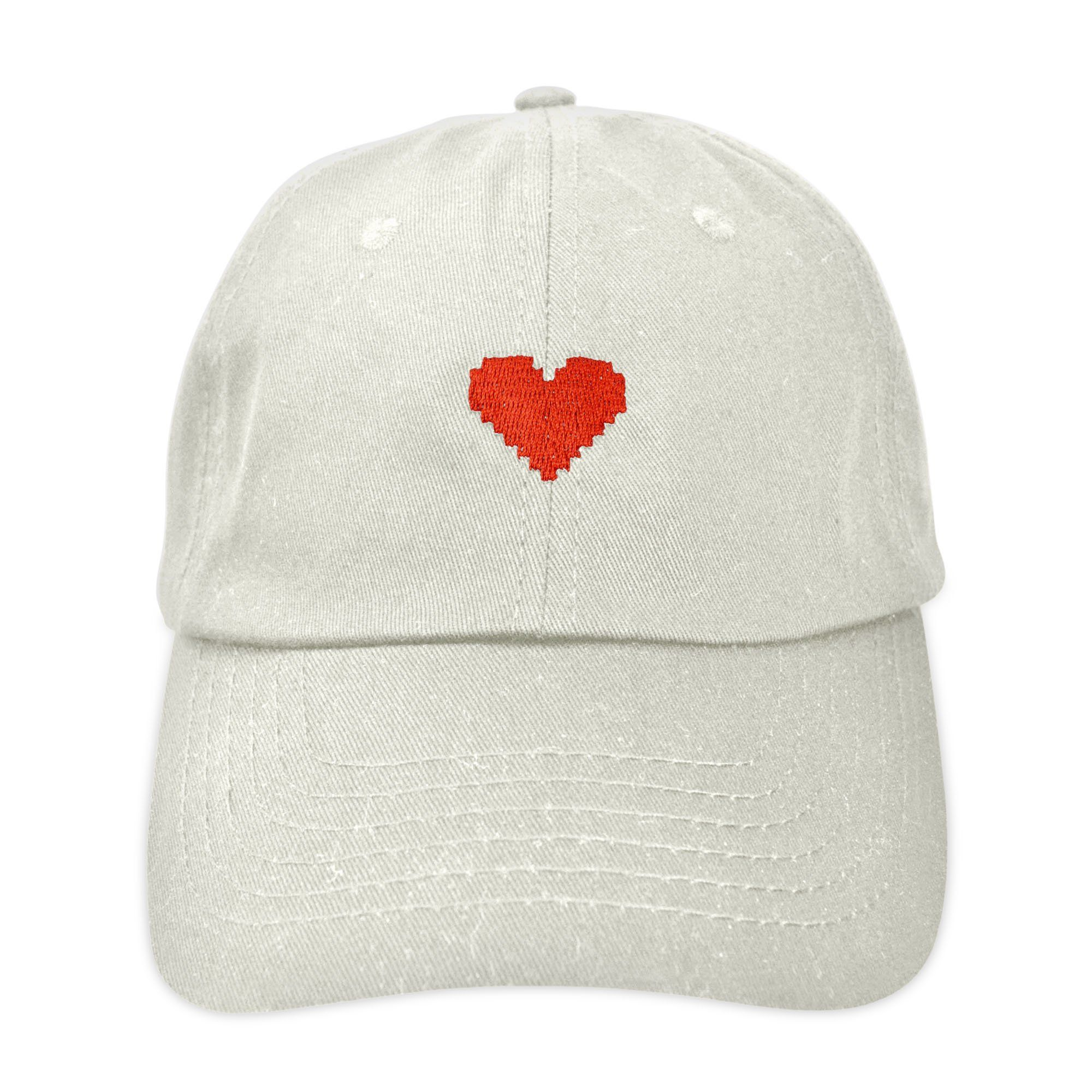 16f812d67c2 DALIX Pixel Heart Hat Womens Dad Hats Cotton Caps Embroidered Valentines