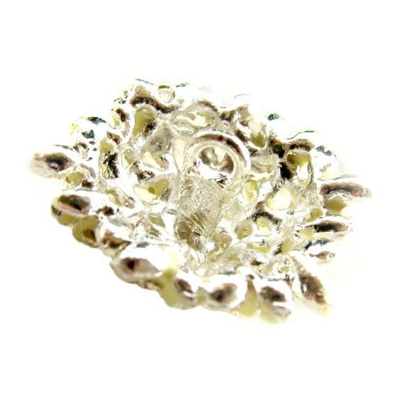 5 Hydrangea Enamel Rhinestone buttons Pastel Yellow for Wedding Bridemaid Hair Accessories Scrapbook