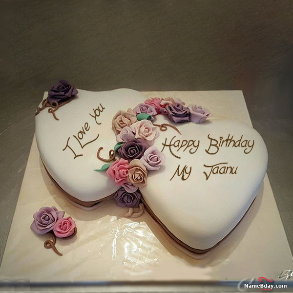 Happy Bday Image My Jaanu Birthday Cake With Photo Happy