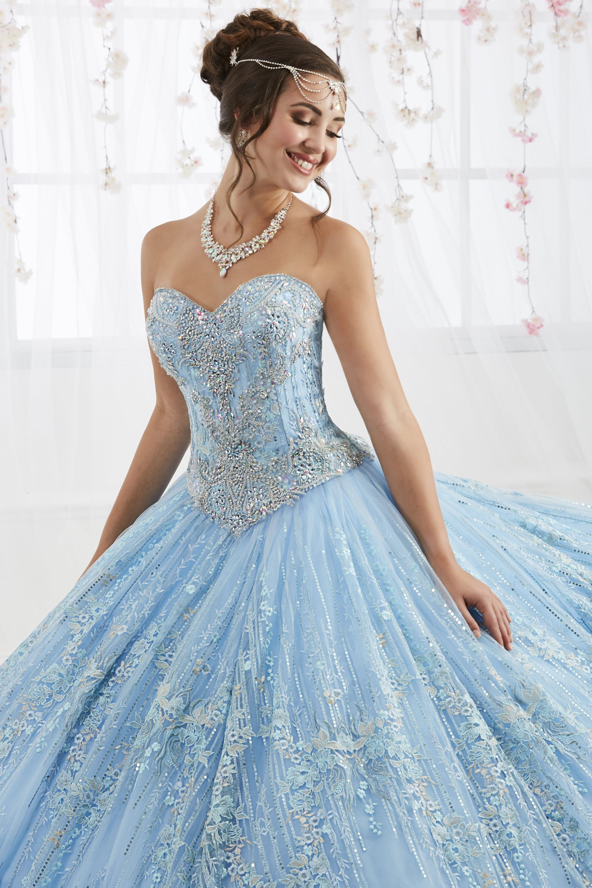 Twopiece quinceanera dress with short skirt by house of wu in