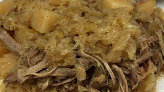 Slow Cooker Pork and Sauerkraut