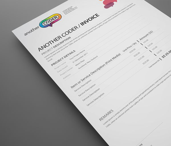 Another Coder Branding Identity On Behance  Quotation I Invoice I