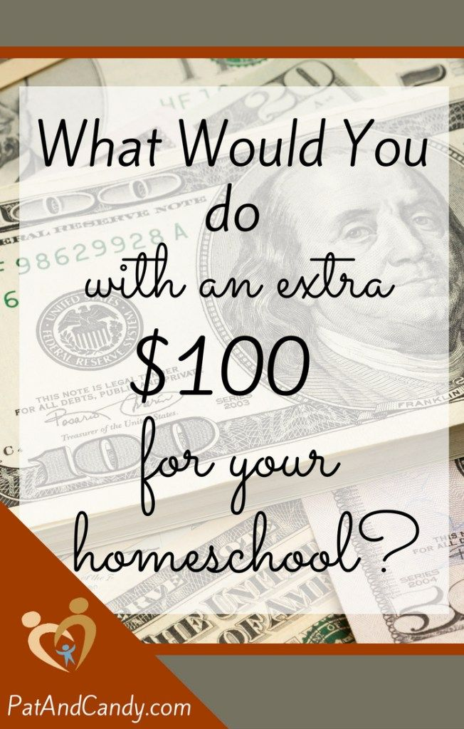 What would you do with an extra $100 for your homeschool? Read on for some neat…