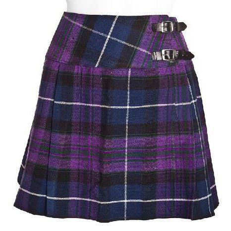 LADIES SCOTTISH UK SCHOOL GIRLS RED CHECK TARTAN MINI SHORT SCOTTISH KILT SKIRT