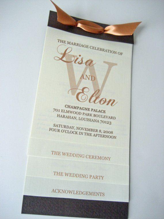 Diy Layered Wedding Program Template By Panacheprintables 18 00 Fancy Option Diy Wedding Programs Template Wedding Programs Diy Wedding Programs