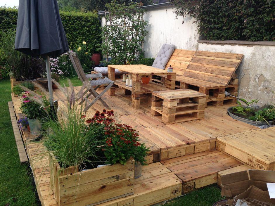 Bildergebnis Fur Podest Paletten Selber Bauen Garten Terrasse Aus Paletten Sitzecken Garten